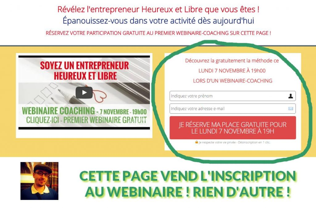 Objectif Conversion Web Illustration
